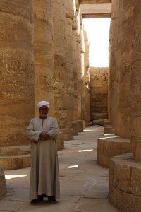 Säulen im Karnak Tempel in Luxor